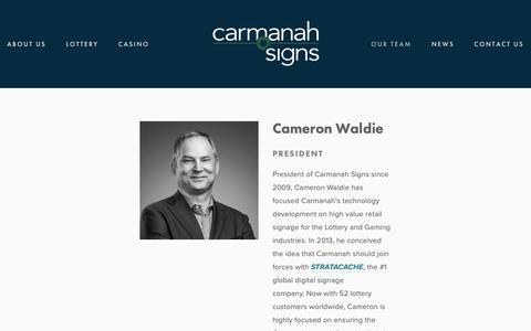 Screenshot of Team Page carmanahsigns.com - Our Team — Carmanah Signs - captured Feb. 16, 2019