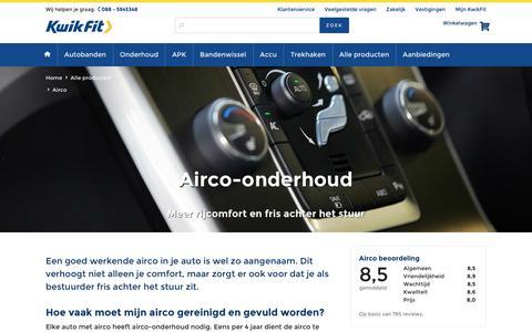 Airco-onderhoud nodig? Plan online airco service in bij KwikFit!
