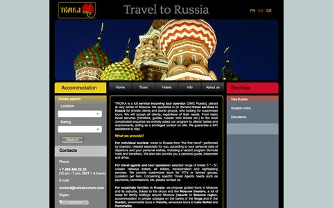 Screenshot of About Page troika.travel - Russian Travel Agency | TROIKA Beautiful, friendly, real Russia - captured Oct. 9, 2014