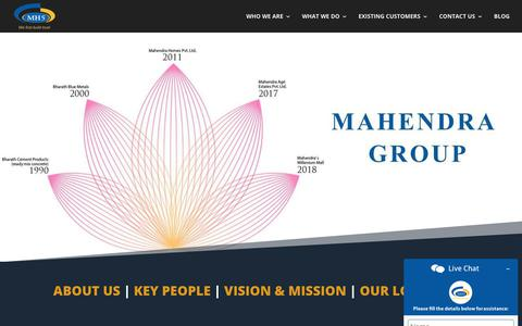 Screenshot of About Page Team Page mahendrahomes.com - Bharath Cement Products | Bharath Blue Metals| Mahendra Homes - captured Feb. 22, 2020
