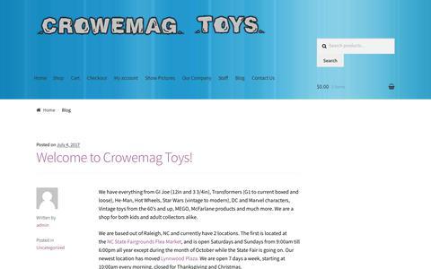 Screenshot of Blog crowemagtoys.com - Blog – Crowemag Toys - captured July 23, 2018