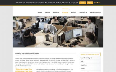 Screenshot of Jobs Page globalloadcontrol.com - Working for Global Load Control - Global Load Control - captured July 19, 2018