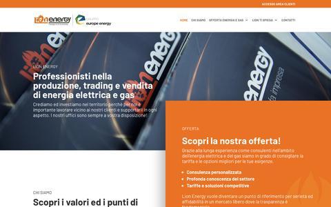 Screenshot of Home Page lionenergy.it - Lion Energy Energia Venezia Luce gas a Venezia Treviso Padova - captured Nov. 5, 2018