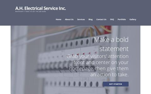 Screenshot of Home Page ahelectricalservice.com - A.H. Electrical Service Inc. – whatever it takes to get the job done - captured Nov. 12, 2018