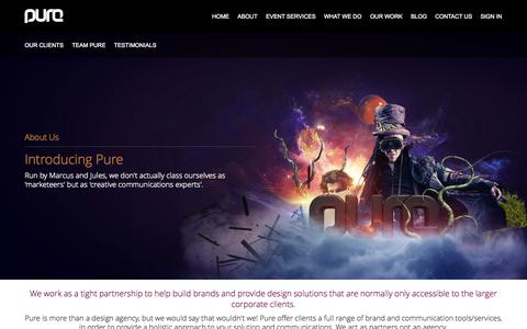 Screenshot of About Page purevc.co.uk - Introducing Pure - captured Oct. 3, 2014