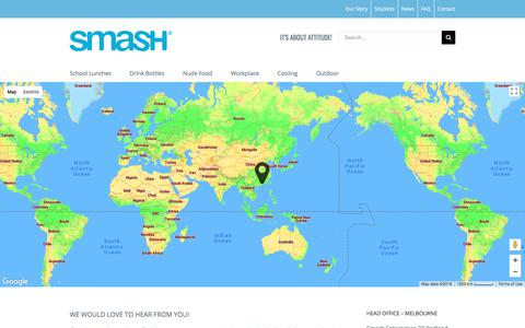 Screenshot of Contact Page smashenterprises.com.au - Contact Us - Smash Enterprises - captured July 26, 2018