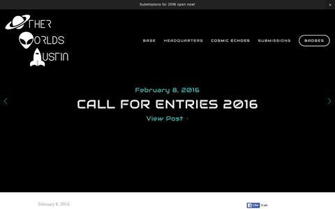 Screenshot of Press Page otherworldsaustin.com - News — Other Worlds Austin SciFi Film Festival - captured Feb. 26, 2016