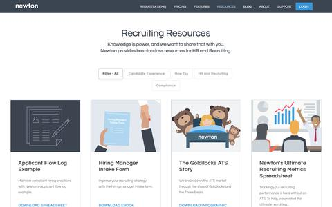 Recruiting Resources & Hiring Tips | Newton Software