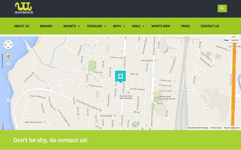 Screenshot of Contact Page woodstockmerch.com - CONTACT US | woodstock - captured Oct. 7, 2014