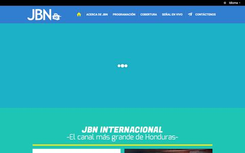 Screenshot of Home Page jbntv.org - JBN | TV Internacional - captured May 23, 2016