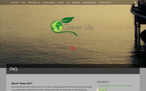 Screenshot of FAQ Page mygreenlife.de - FAQ | Green Life e.V. - captured Oct. 3, 2014