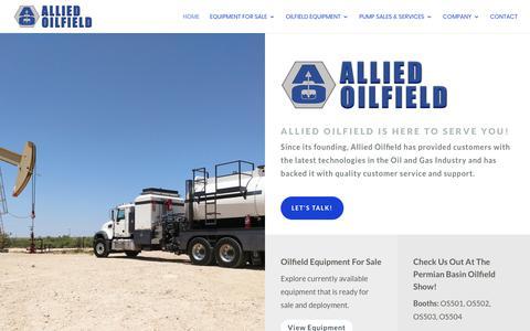 Screenshot of Home Page alliedoilfield.com - Allied Oilfield - HOME - Allied Oilfield - captured Nov. 6, 2018