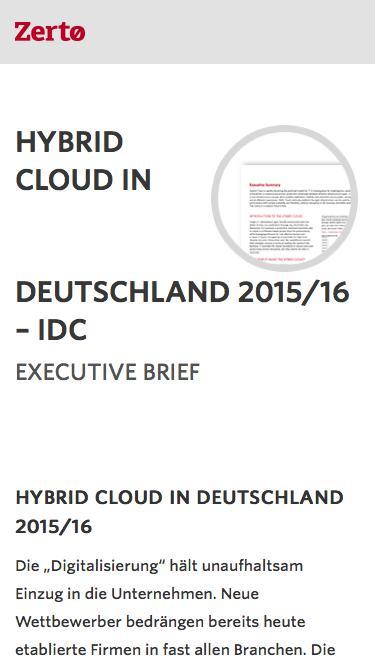 HYBRID CLOUD IN DEUTSCHLAND 2015/16 – IDC