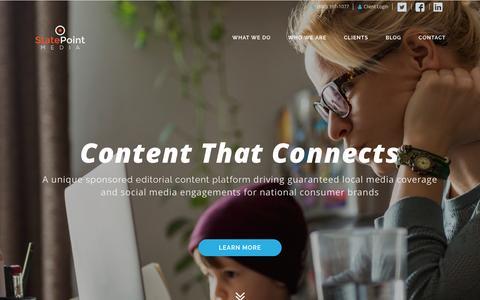 Screenshot of Home Page statepointmedia.com - StatePoint Media: Local Sponsored Editorial Content Platform - captured Nov. 25, 2016