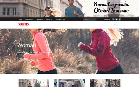 Screenshot of Blog deporr.com - DEPORR - Blog de Running y Trail - captured Jan. 15, 2016