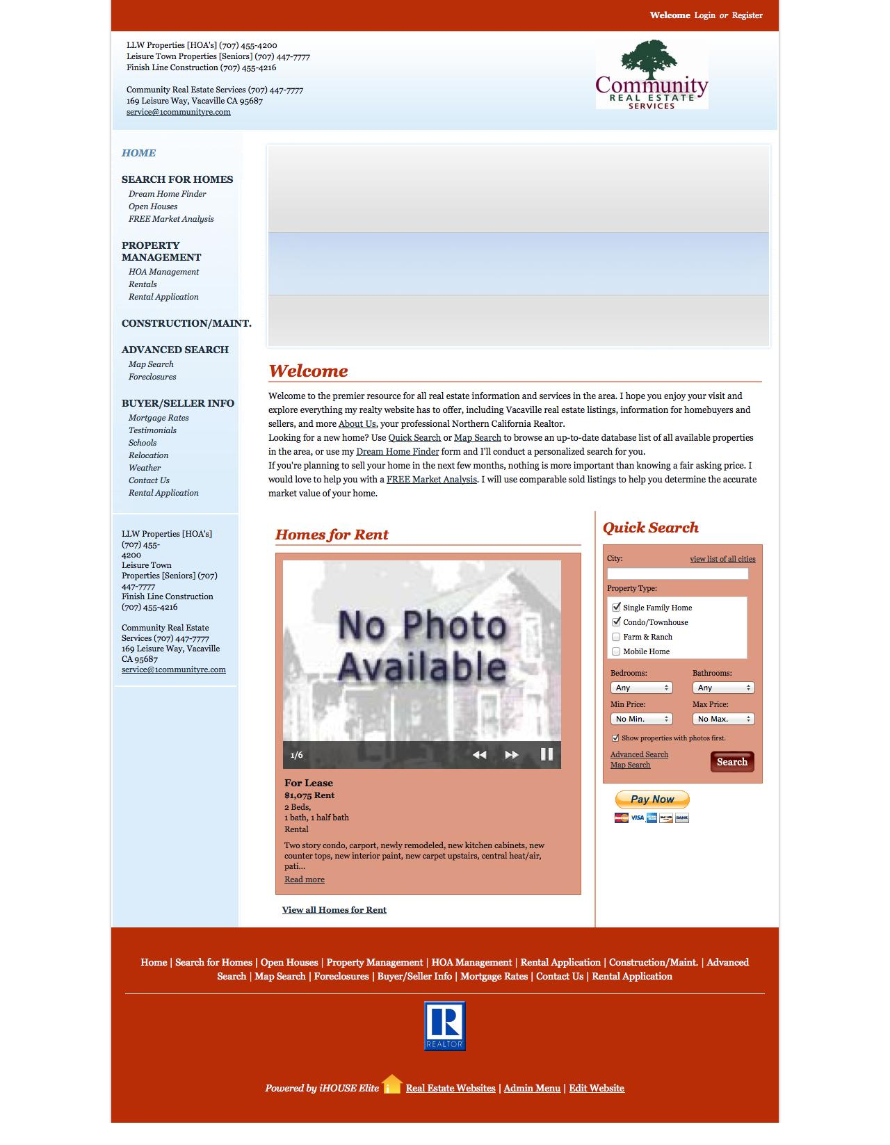 Web Design Example A page on 1 munityre