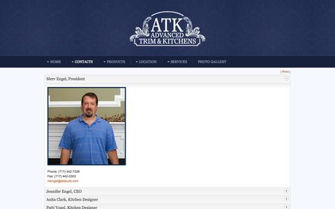 Screenshot of Team Page advancedtrimandkitchens.com - The Team - captured Sept. 30, 2014