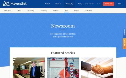 Screenshot of Press Page mavenlink.com - Media and Press Information - Mavenlink - captured Nov. 15, 2016