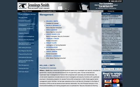 Screenshot of Team Page jenningssmith.com - Management - Jennings Smith Jennings Smith - captured Oct. 6, 2014