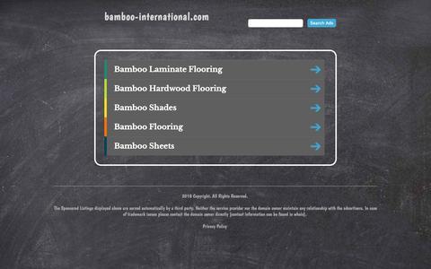 Screenshot of Home Page bamboo-international.com - bamboo-international.com - captured Oct. 5, 2018