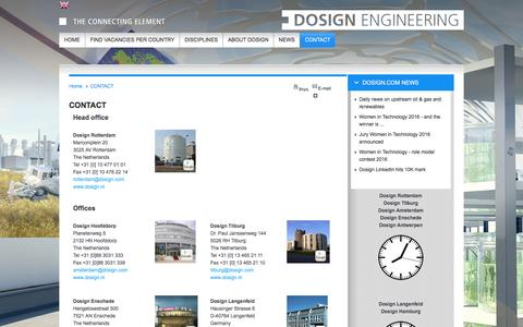 Screenshot of Contact Page Locations Page dosign.com - Contact - captured Feb. 9, 2016