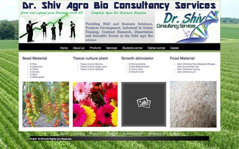 Screenshot of Products Page drshivconsultancy.in - Products - captured Oct. 5, 2014