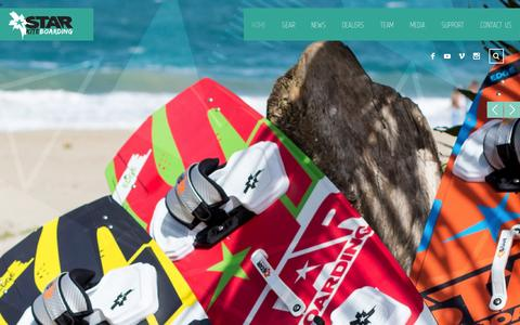 Screenshot of Home Page starkites.com - Star Kiteboarding | starkites.com - captured Jan. 13, 2016