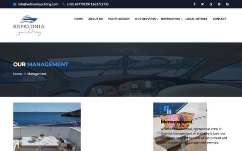 Screenshot of Team Page kefaloniayachting.com - Management | Sailing and Yacht services - captured Sept. 20, 2018