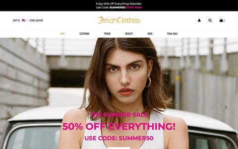 Screenshot of Home Page juicycouture.com - Juicy Couture | Women's Designer Clothing & Handbags - captured Aug. 16, 2019