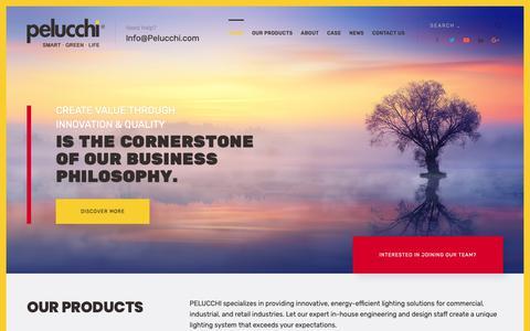 Screenshot of Home Page pelucchi.com - Home - PELUCCHI - captured Sept. 27, 2018