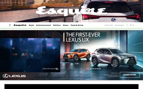 Screenshot of Home Page esquire.com - Esquire - Men's Fashion, Cocktails, Politics, Interviews, and Women - captured Jan. 18, 2019