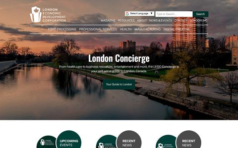 Screenshot of Home Page ledc.com - Home   London Economic Development Corporation - captured Jan. 17, 2018
