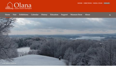 Screenshot of Home Page olana.org - Olana NY State Historic Site | Hudson River School Painter Frederic Edwin Church - captured Feb. 15, 2016