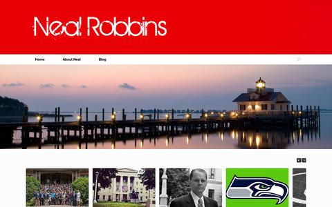 Screenshot of Home Page nealrobbins.com - Neal Robbins - captured Oct. 9, 2014