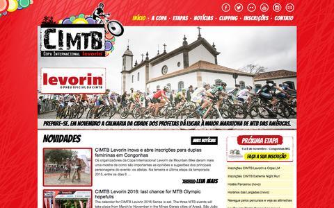 Screenshot of Home Page cimtb.com.br - CIMTB - Copa Internacional de Mountain bike – Maior evento de MTB das Américas - captured Oct. 9, 2015