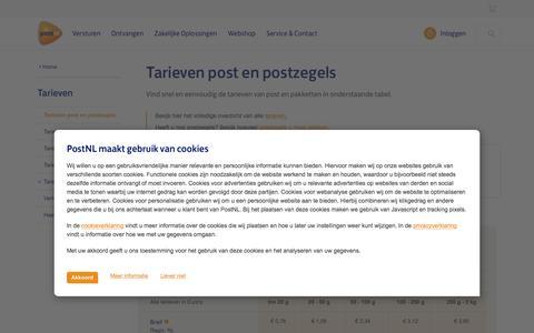 Alle tarieven van brieven en postzegels | PostNL