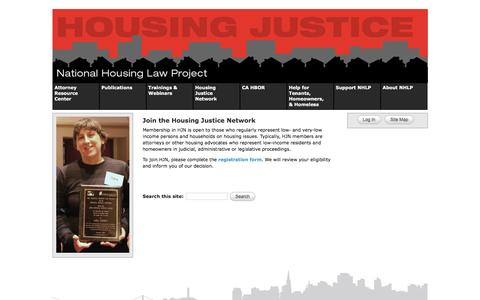 Screenshot of Signup Page nhlp.org - Join the Housing Justice Network | National Housing Law Project - captured Feb. 13, 2016