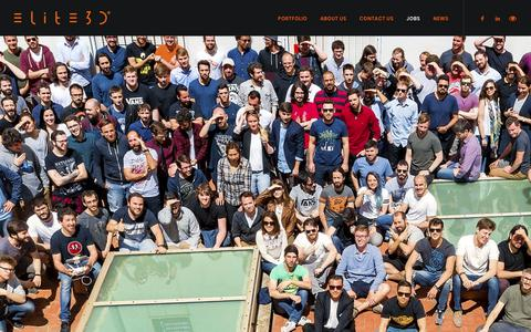 Screenshot of Jobs Page elite3d.com - Work with us | elite3d - captured Dec. 8, 2018