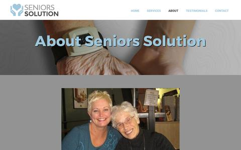 Screenshot of About Page seniors-solution.com - About | Seniors Solution | Ottawa, ON - captured June 11, 2017