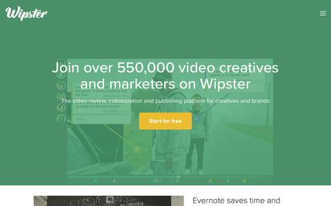 Wipster is a video collaboration and review platform