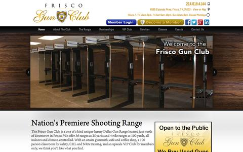 Screenshot of Home Page friscogunclub.com - Frisco Gun Club | State of the Art, Luxury Gun Range and Club - captured Aug. 3, 2015