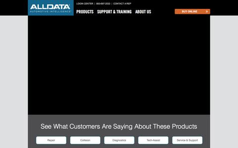 Screenshot of Testimonials Page alldata.com - Testimonials - ALLDATA - captured Aug. 9, 2019