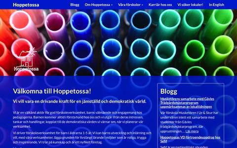 Screenshot of Home Page hoppetossa.com - Hoppetossa - captured July 25, 2015