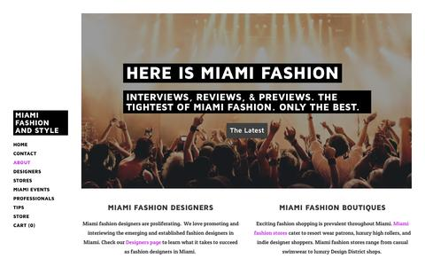 Screenshot of About Page miamifashionnetwork.com - About Fashion in Miami - Miami Fashion and Style - captured Feb. 13, 2016