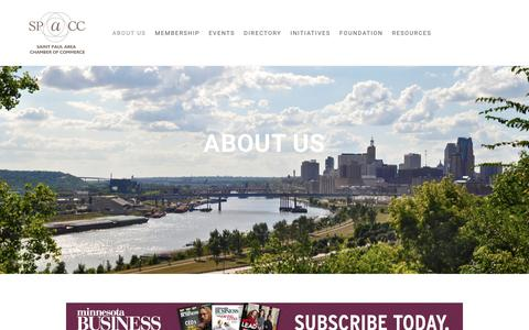 Screenshot of About Page saintpaulchamber.com - About Us | Saint Paul Area Chamber of Commerce - captured Dec. 17, 2018