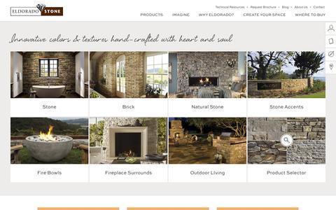 Screenshot of Products Page eldoradostone.com - Products Archive - Eldorado Stone - captured March 18, 2016