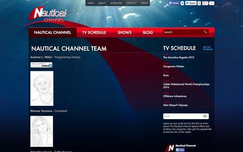 Screenshot of Team Page nauticalchannel.com - Nautical Channel | Nautical Channel Team - captured Oct. 9, 2014