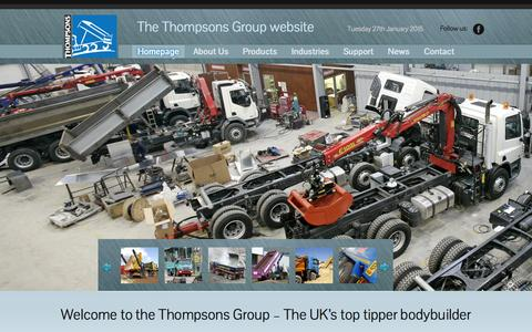Screenshot of Home Page thompsonsuk.com - The Thompsons Group Website | The Thompsons Group website - captured Jan. 27, 2015