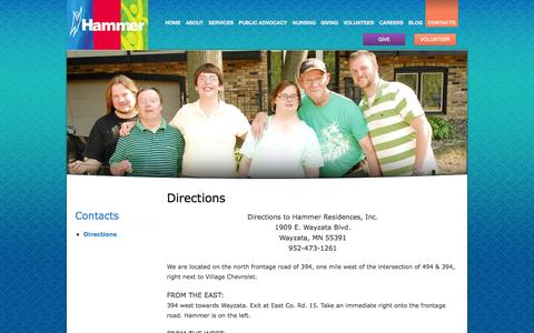 Screenshot of Maps & Directions Page hammer.org - Directions   Hammer - captured Oct. 1, 2014