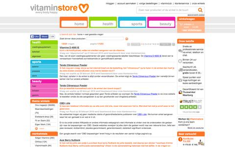 Screenshot of FAQ Page vitaminstore.nl - veel gestelde vragen, Vitamine D 4000 IE-Lamberts, Bevat 4000 IE vitamine D3 per tablet! - captured Feb. 21, 2016